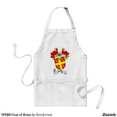 WEBB Coat of Arms Adult Apron