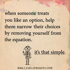 It's that simple. ... time for a change