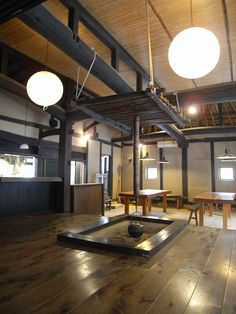 Japanese traditional folk house:  love the ceiling