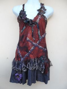 20%OFF steam punk bohemian gypsy tribal belly dance pixie woodland top..,,small to firmer 38'' bust...FREE SHIPPING