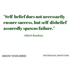 Self Efficacy: Why Believing In Yourself Is So Important