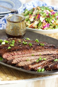 This super flavorful Five Spice Teriyaki Flank Steak recipe uses just THREE ingredients and is ready in minutes! | @suburbansoapbox