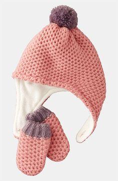 Mini Boden Hat & Mittens (Infant & Toddler) available at #Nordstrom