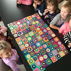 Today we each made a section of Kandinsky circles that will all be put together to make one giant piece of artwork! So happy with how this turned out. I can't remember if I already mentioned this, but if your kindergartener is in our class, ask them what Kandinsky For Kids, Kandinsky Art, Kids Sprinkler, Painted Boxes, Good Books, Holiday Decor, Artist, Artwork, Colors