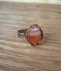 Wire wrapped ring Wirewrapped handmade jewellery Wirewrapped