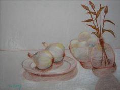 "Saatchi Art Artist Jung Nowak; Painting, ""Onions and eggs"" #art"