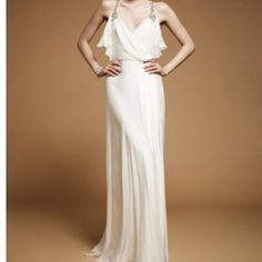 Officially my dream wedding dress... why can't I already by engaged :0 so gorgeous!Jenny Packham Evening Dress (Ivory)