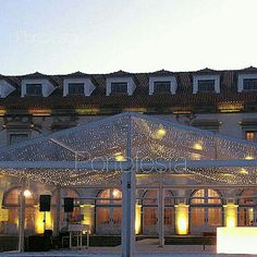 Architectural Uplighting and Decorative Led Fairy String Lights for Weddings, DJ Booth and Sound at the beautiful S, Marcos Palace near the city of Coimbra