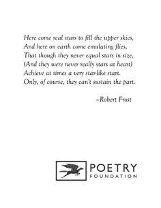 """Fireflies in the Garden"" by Robert Frost"