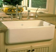 Wonderful Rohl Shaws Original Fireclay Apron Sink