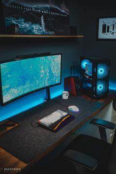 Pc Setup, Desk Setup, Home Library Design, House Design, Best Standing Desk, Best Ergonomic Office Chair, Smart Desk, New Headphones, Desk Inspo