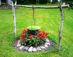 Handmade original flower garden idea.