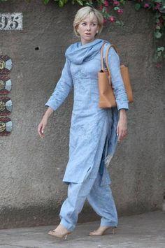 Naomi Watts as Princess Diana in Indian Garb Salwar Designs, Kurta Designs Women, Kurti Designs Party Wear, Designer Salwar Kameez, Indian Attire, Indian Wear, Indian Outfits, Mode Outfits, Trendy Outfits