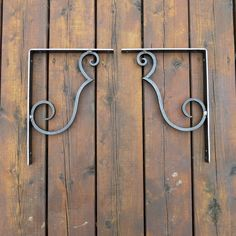 ***Original Design from Naz Forge Forged hot at the anvil with the hammer, this pair of original designed shelf brackets is very strong and will give a handmade warmth to any room. The L shape is made out of a flat bar of 1 by 1/8 and is hammered all around. This alone would be very