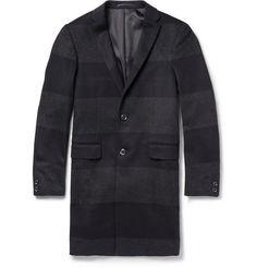 Kolor Wool--Cashmere Striped Overcoat | MR PORTER
