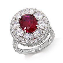 Jean Dousset 6.32ct Absolute™ and Created Ruby Ring