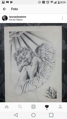 Chicano Drawings, Chicano Tattoos, Tattoo Design Drawings, Tattoo Sketches, Cool Shoulder Tattoos, Gangster Tattoos, Tattoo Lettering Fonts, Angel Tattoo Designs, Religious Tattoos