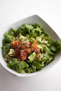 Bulgar Wheat with Avocado and Salmon by Salad Pride, via Flickr