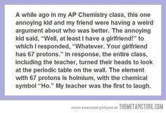 Bam! @Alyssa Parchman and @Ruth H. H. H. H. Lykins I thought you might appreciate this mighty display of science humor.
