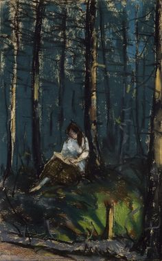 Robert Henri - The Reader in the Forest; Google Art Project.jpg (1486×2401)