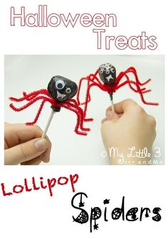 These cute Lollipop Spiders are such fun and easy Halloween treats for kids.