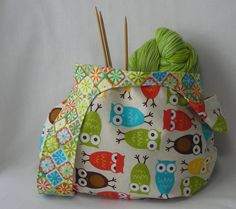 knitting project bag  crochet project bag  by lavenderhillknits, $33.00