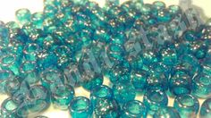 100 BLUE GLITTER/SPARKLE pony beads by KandiStash on Etsy, $2.00