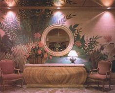 vaporwave interior love this pink hotel lounge. 80s Interior Design, 1980s Interior, Interior Exterior, Interior Decorating, Pink Hotel, Retro Home, Retro Futurism, Dream Decor, Room Inspiration