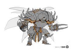 ArtStation - Knight Brawler, Yohann Schepacz OXAN STUDIO Fantasy Character Design, Character Design Inspiration, Character Concept, Character Art, Monster Concept Art, Fantasy Monster, Monster Art, Creature Concept Art, Creature Design