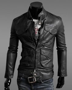 Mens Jacket Fashionable Cotton Stand Collar Solid Mens Jacket ...