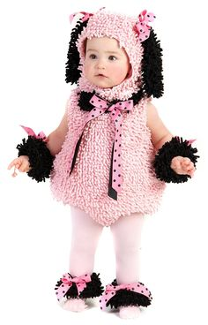 Pink Poodle Infant / Toddler Costume - going to try to crochet something like this headpiece for my daughter.