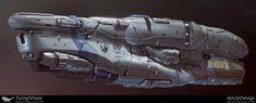 Cargo plasma ship hard surface - Polycount Forum