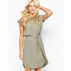 Oasis Military Shirt Dress (8375 RSD) ❤ liked on Polyvore featuring dresses, khaki, tall dresses, military shirt dress, viscose dress, long white shirt dress and white cap sleeve dress
