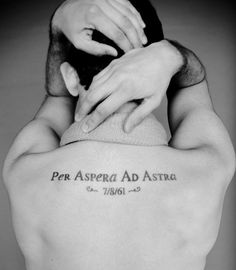 """Per Aspera Ad Astra or Ad astra per aspera is a Latin phrase which means any of the following: """"Through hardships to the stars"""", """"A rough road leads to the stars"""" or """"To the stars through difficulties"""". The phrase is one of many Latin sayings which use the expression Ad astra."""