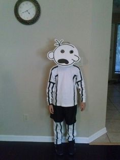 Diary of a Wimpy Kid book character costume Black Electrical tape...had to use rubber cement to make it stay