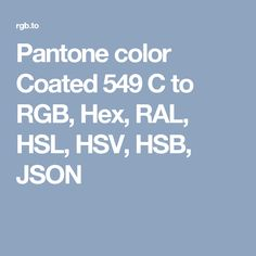 pantone color coated 549 c to rgb hex ral hsl hsv