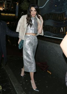 Amal Clooney in Vintage Lanvin (1967).  Sourced by William Vintage.  I adore this chic look and then I found it was vintage--of course!  So different and unique.  Gorgeous.