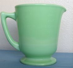 Image detail for -VINTAGE GREEN MILK GLASS PITCHER by becaruns on Etsy