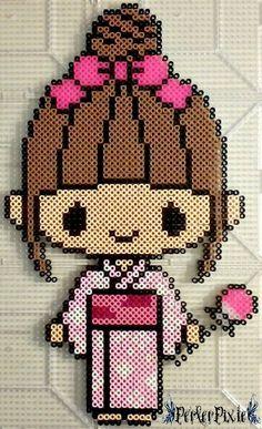 Japanese girl perler beads