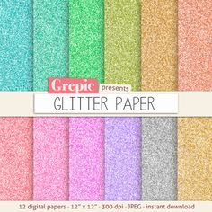 Glitter digital paper GLITTER PAPER with rainbow gold by Grepic  https://www.etsy.com/listing/157423600/glitter-digital-paper-glitter-paper-with?ref=shop_home_active_20