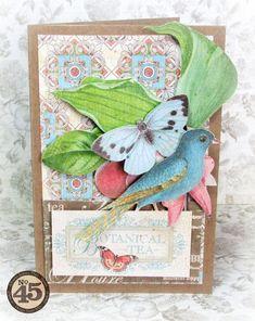 Botanical Tea Graphic 45 card