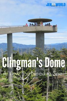 Visiting Clingman's Dome near Gatlinburg, Tennessee - a spectacular view of the Great Smoky Mountains! Gatlinburg Vacation, Gatlinburg Tennessee, Tennessee Vacation, East Tennessee, Tennessee Camping, Gatlinburg Attractions, Ober Gatlinburg, Nashville Vacation, Pigeon Forge Tennessee