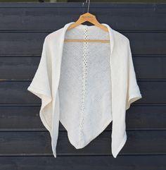 Oppskrift på sjal med fletter Vintage Knitting, Bell Sleeve Top, Knitting Machine, Sleeves, Sweaters, Tops, Women, Fashion, Threading