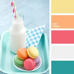 Delicate pastel shades of this color palette is well suited for girls' room design. You can safely use these shades in proportions that you prefer..