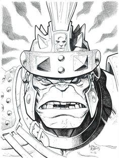 """marvel1980s: """"Gladiatorial Hulk by Art Adams """""""