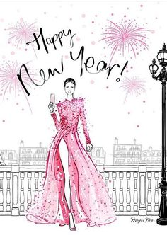 Fashion quotes illustration megan hess 16 Ideas for 2019 Happy New Year Images, Happy New Year Greetings, New Year Wishes, Happy New Year 2019, New Year 2020, New Year Illustration, Christmas Illustration, Christmas Quotes, Christmas And New Year