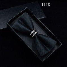 Tuxedo Metal Crystal Wedding Bow Tie Butterfly Knot