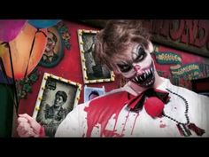 Tuto maquillage Halloween Clown terrifiant - YouTube