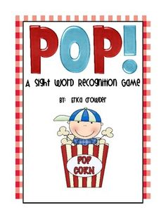 This sight word game is a fun way to practice sight words.  Students will read the words and anticipate the POP! words.  When students see the POP!...