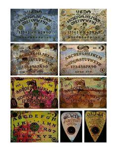 Grunge Ouija Boards Digital Collage